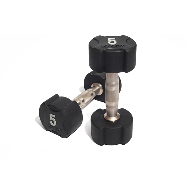 Ignite Rubber Dumbbells (Solid End) - Pairs